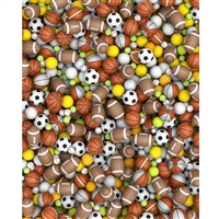 Sports Balls Printed Backdrop