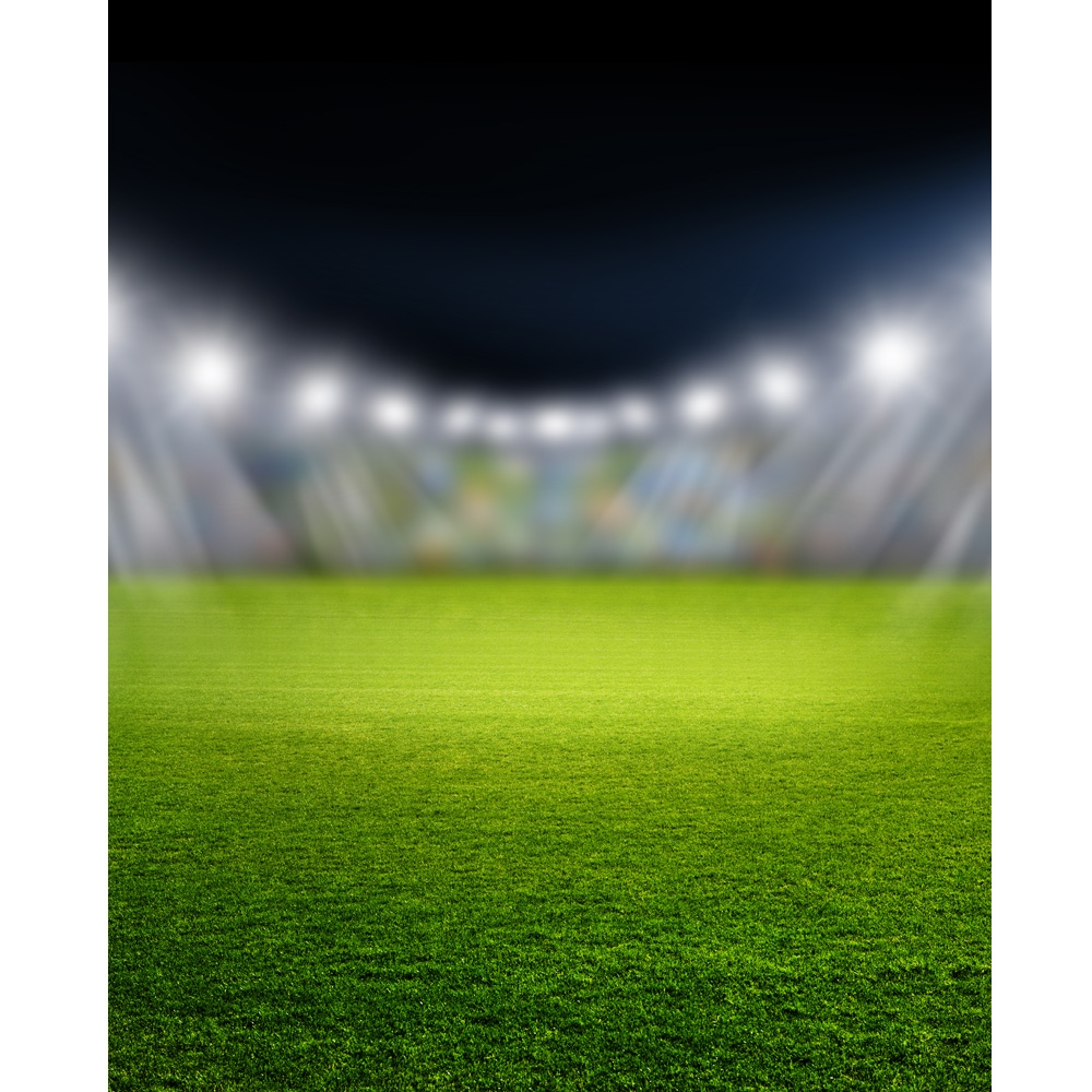Football Stadium Night Lights: Stadium Lights Printed Backdrop