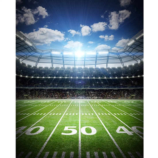 Football Field Printed Backdrop
