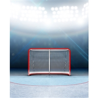 Hockey Goal Printed Backdrop