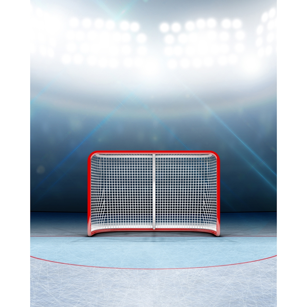 Hockey Goal Printed Backdrop Backdrop Express