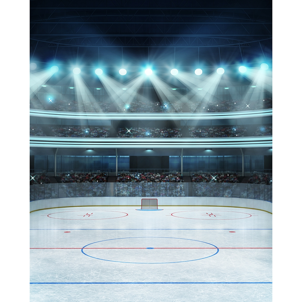 Hockey Stadium Printed Backdrop Backdrop Express