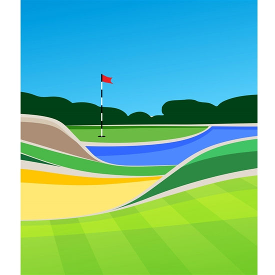 Golf Course Printed Backdrop Backdrop Express