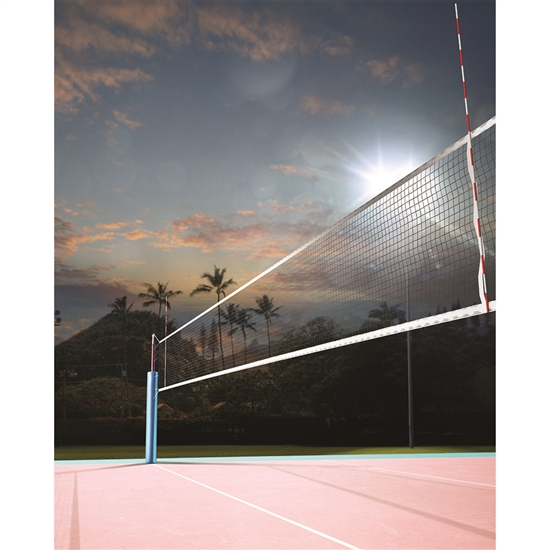 Volleyball At Sunset Printed Backdrop Backdrop Express