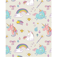 Magical Unicorn Sketches Printed Backdrop