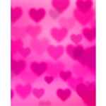 Raspberry Pink Hearts Bokeh Printed Backdrop