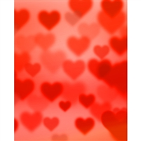 Red Hearts Bokeh Printed Backdrop