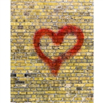 Heart Stained Brick