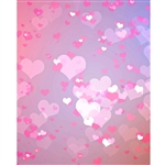 Pastel Pink Hearts Printed Backdrop