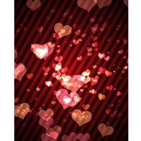 Grunge Hearts Printed Backdrop