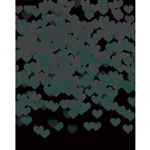 Black Mint Heart Bokeh Printed Backdrop