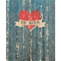 Be Mine Planks Printed Backdrop