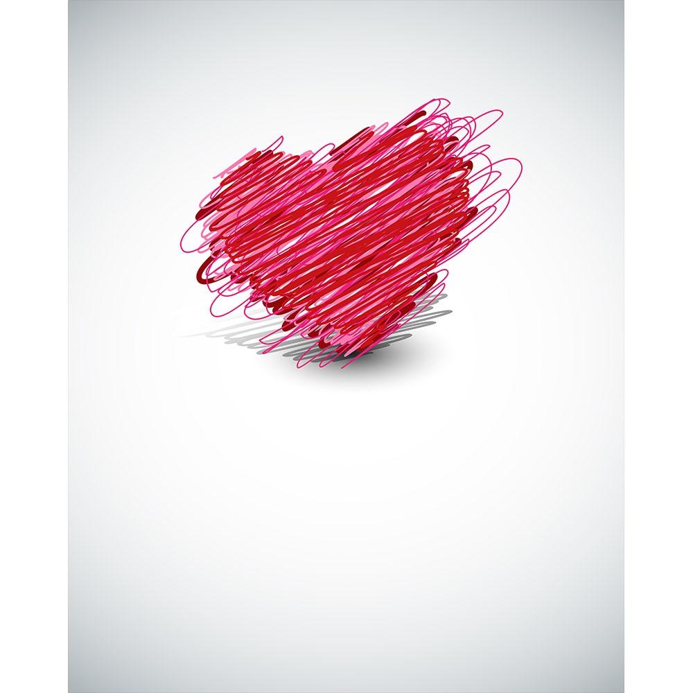 Scribbled Heart Printed Backdrop Backdrop Express
