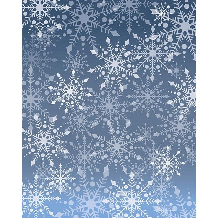 Snowflakes Vinyl Backdrop Kit Backdrop Express