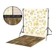 Fall Leaf Vines & Chevron Vinyl Backdrop Kit