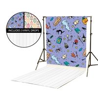 Hocus Pocus & Loose Leaves Vinyl Backdrop Kit