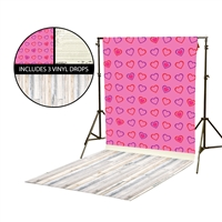 Dancing Hearts & Love Note Vinyl Backdrop Kit