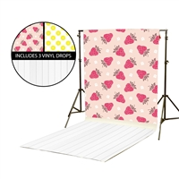 Raspberry & Lemons Vinyl Backdrop Kit