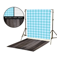 Argyle & Tin Tiles Vinyl Backdrop Kit