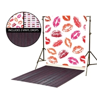 Kisses & Bowties Vinyl Backdrop Kit