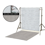 White & Mint Brick Vinyl Backdrop Kit