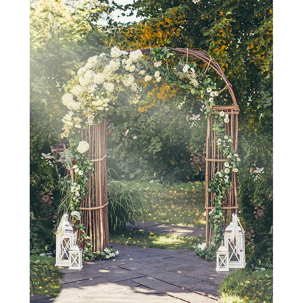 Flower Arch Printed Backdrop Backdrop Express