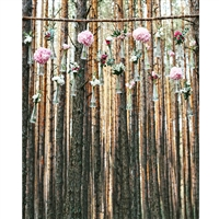 Rustic Flower Chandelier Printed Backdrop