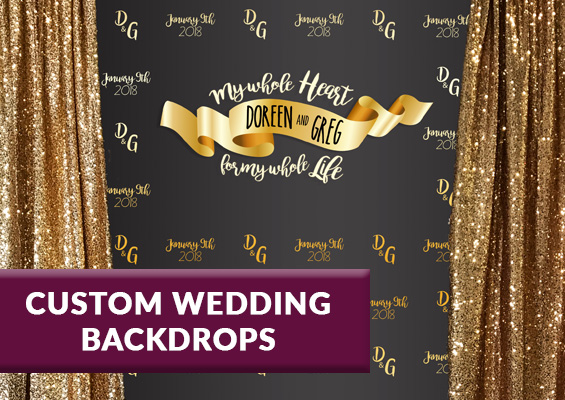 Keep The Backdrop As A Keepsake After Celebration Backdrops Are Perfect For Behind Dessert Tables Sweetheart Photo Booths Or Just Wedding Wall