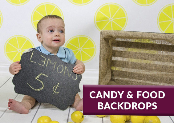 Food & Candy Backdrops