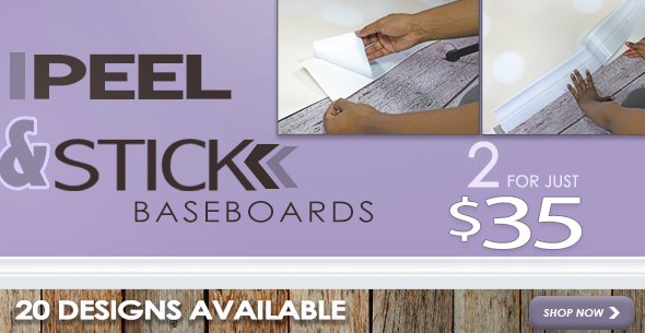 Peel and Stick Baseboards - now 2 for $35