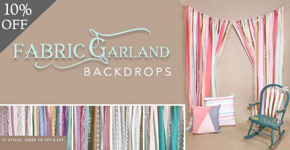10% off Fabric Garland Backdrops