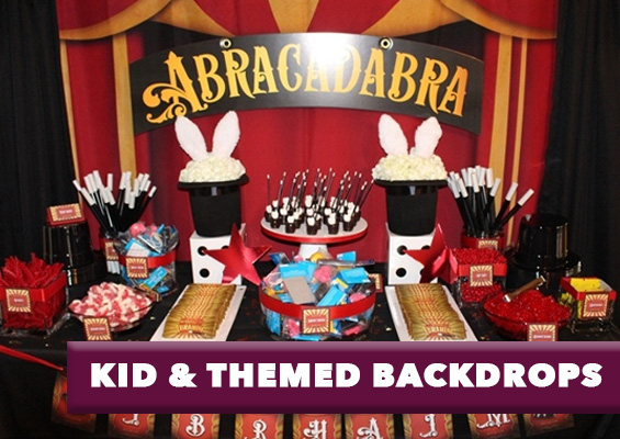 Kid Themed Party Backdrops