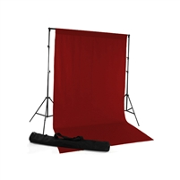 Red Fabric Backdrop Kit
