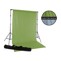 Green & Sky Blue Fabric Backdrop Kit