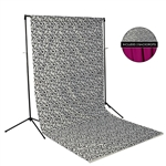 Black Swirls & Plum Fabric Backdrop Kit