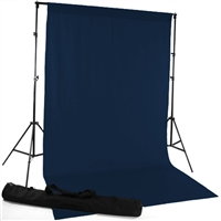 Navy Blue Fabric Backdrop