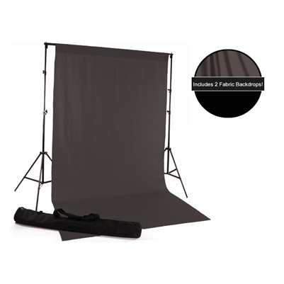 Gray & Black Fabric Backdrop Kit