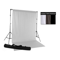 White, Gray & Black Fabric Backdrop Kit