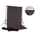 White & Charcoal Gray Fabric Backdrop Kit