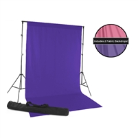 Candy Pink & Grape Fabric Backdrop Kit