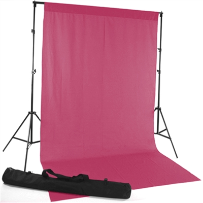 Candy Pink Fabric Backdrop