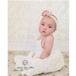 Cream Rose Textured Fabric Backdrop