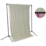Cream Rose & Spring Pink Fabric Backdrop Kit