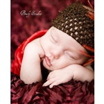 Burgundy Rose Textured Fabric Backdrop