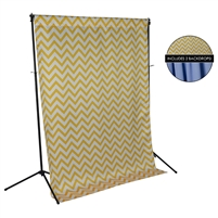 Sunshine Chevron & Sky Blue Fabric Backdrop Kit