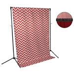 Red Chevron & Holiday Red Fabric Backdrop Kit