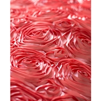 Coral Rose Textured Fabric Backdrop