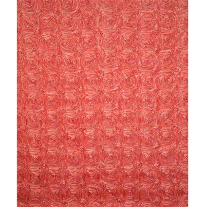 Coral Rose Textured Fabric Backdrop Backdrop Express