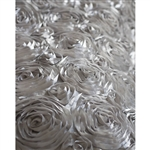 Silver Rose Textured Fabric Backdrop