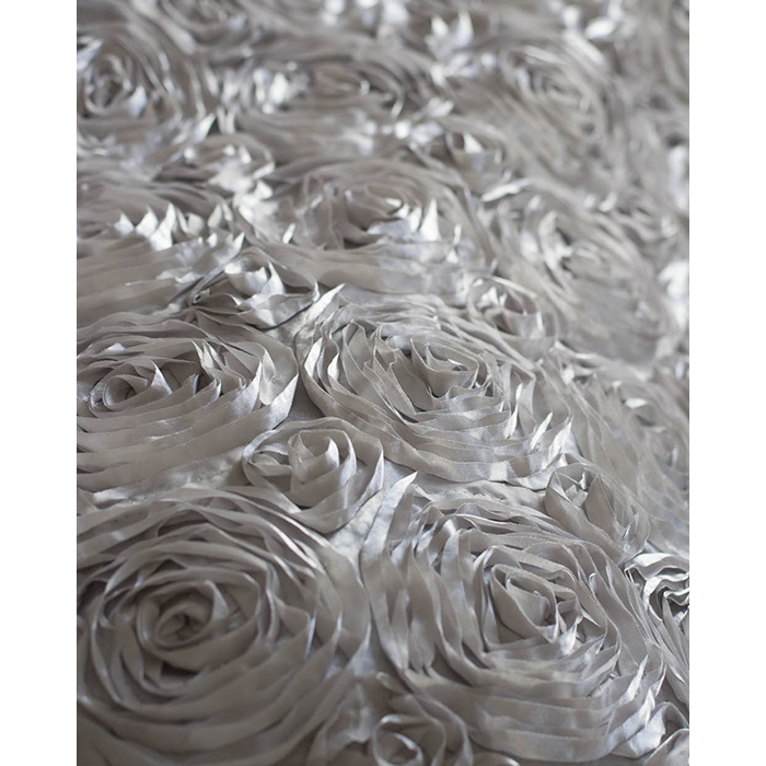 Silver Rose Textured Fabric Backdrop Backdrop Express